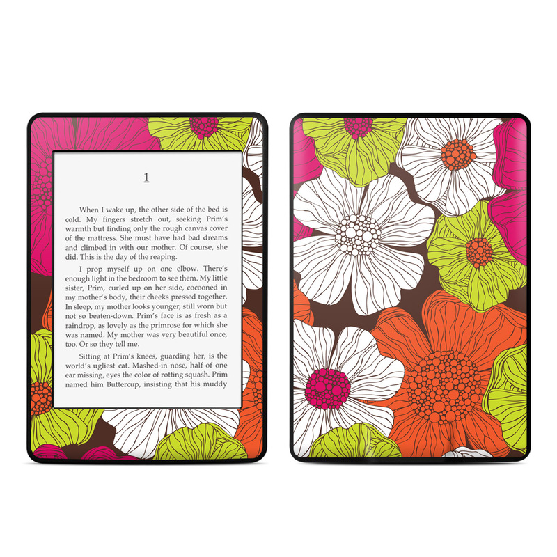 Brown Flowers Amazon Kindle Paperwhite 3rd Gen Skin
