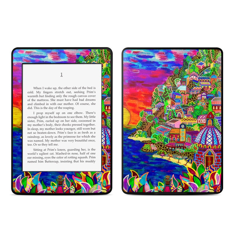 Amazon Kindle Paperwhite 3rd Gen Skin design of Art, Modern art, Visual arts, Painting with red, blue, yellow, purple, white, green, orange colors