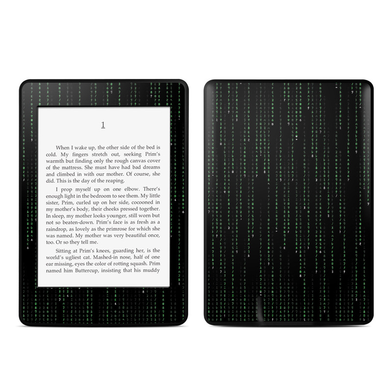 Matrix Style Code Amazon Kindle Paperwhite Skin
