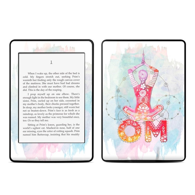 Amazon Kindle Paperwhite 3rd Gen Skin design of Illustration, Art, Graphic design, Drawing, Graphics with blue, red, purple, white, orange, yellow colors