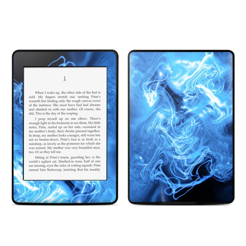 Blue Quantum Waves Amazon Kindle Paperwhite Skin