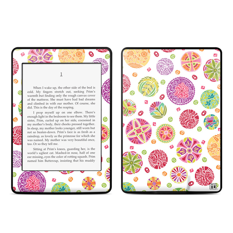 Round Flowers Amazon Kindle Paperwhite Skin
