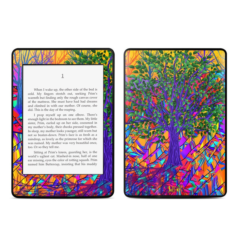 Stained Glass Tree Amazon Kindle Paperwhite Skin