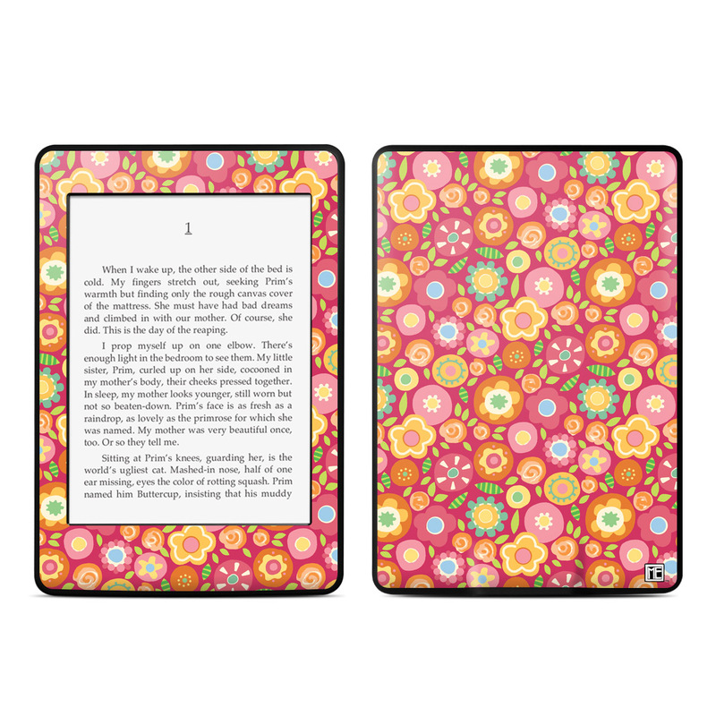Flowers Squished Amazon Kindle Paperwhite Skin