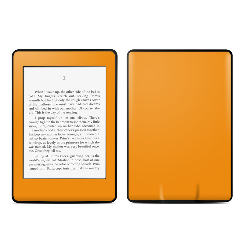 Amazon Kindle Paperwhite 3rd Gen Skin design of Orange, Yellow, Brown, Text, Amber, Font, Peach with orange colors