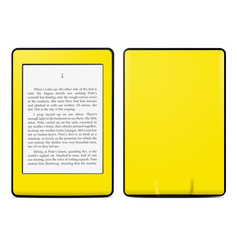 Solid State Yellow Amazon Kindle Paperwhite Skin