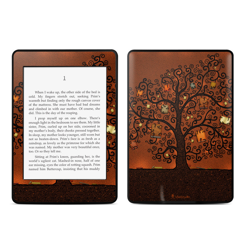Kindle Paperwhite Book Cover Art : Tree of books amazon kindle paperwhite skin covers