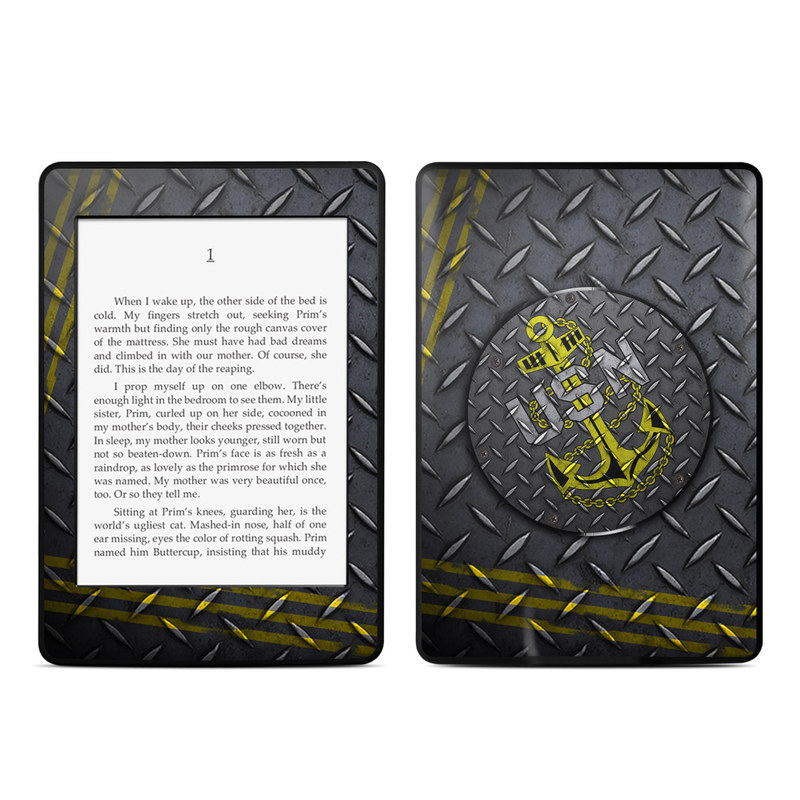 USN Diamond Plate Amazon Kindle Paperwhite Skin
