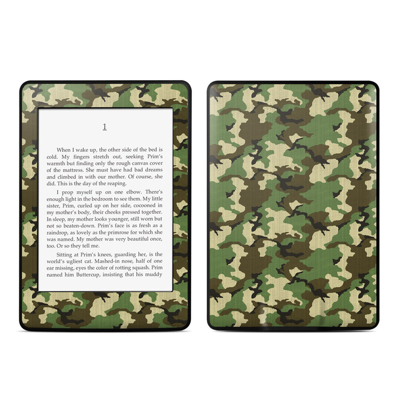 Woodland Camo Amazon Kindle Paperwhite 3rd Gen Skin