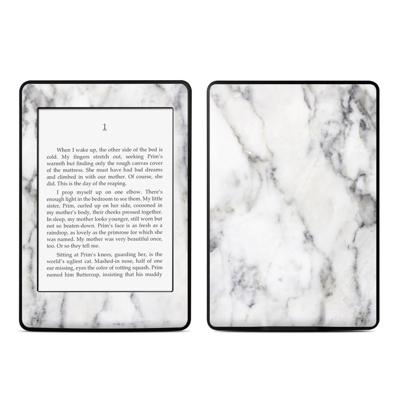 White Marble Amazon Kindle Paperwhite 3rd Gen Skin