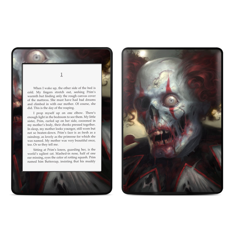 Amazon Kindle Paperwhite 3rd Gen Skin design of Illustration, Fictional character, Fiction, Supervillain, Demon, Art, Zombie, Ghost, Supernatural creature, Flesh with black, gray, green, red colors