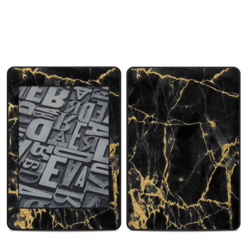 Black Gold Marble Amazon Kindle Paperwhite 4th Gen Skin