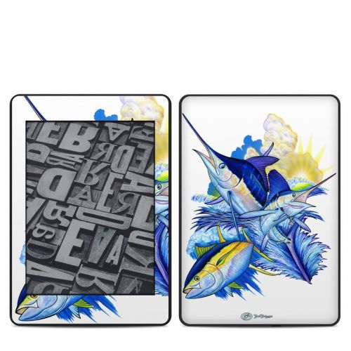 Blue White and Yellow Amazon Kindle Paperwhite 4th Gen Skin