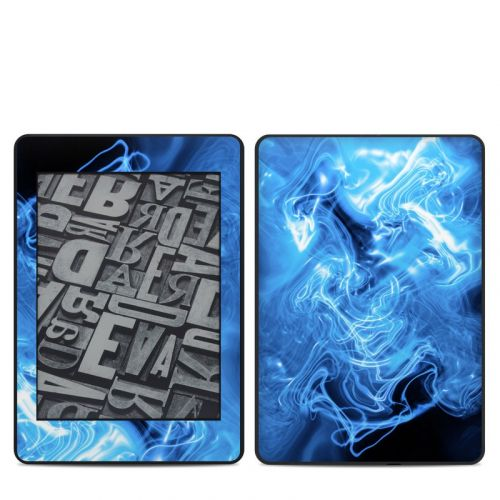 Blue Quantum Waves Amazon Kindle Paperwhite 4th Gen Skin
