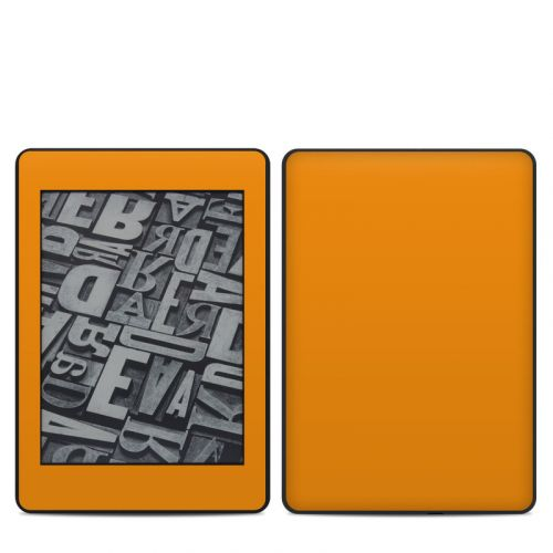 Solid State Orange Amazon Kindle Paperwhite 4th Gen Skin