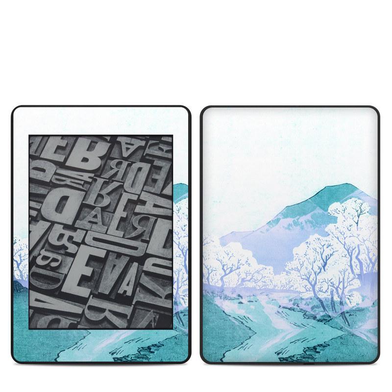 Amazon Kindle Paperwhite 4th Gen Skin design of Polar ice cap, Mountainous landforms, Glacial landform, Natural landscape, Mountain, Glacial lake, Glacier, Ice cap, Ice, Water with white, blue, black colors