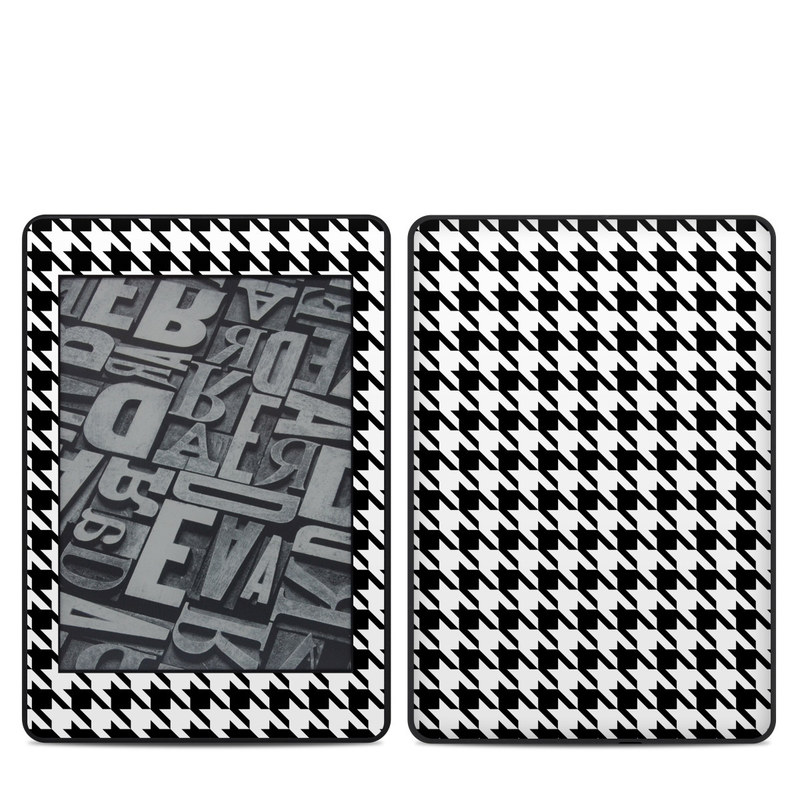Amazon Kindle Paperwhite 4th Gen Skin design of Pattern, Black-and-white, Line, Monochrome, Design, Monochrome photography, Textile, Parallel, Style with black, white, gray colors