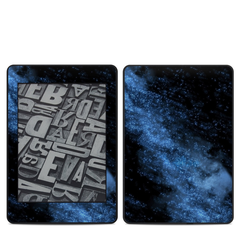 Amazon Kindle Paperwhite 4th Gen Skin design of Sky, Atmosphere, Black, Blue, Outer space, Atmospheric phenomenon, Astronomical object, Darkness, Universe, Space with black, blue colors