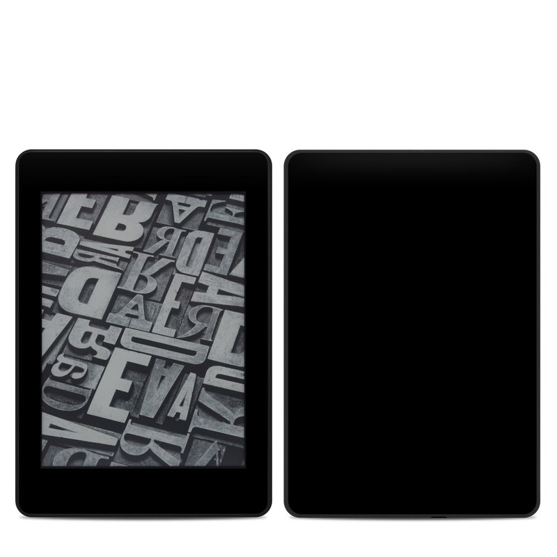 Amazon Kindle Paperwhite 4th Gen Skin design of Black, Darkness, White, Sky, Light, Red, Text, Brown, Font, Atmosphere with black colors
