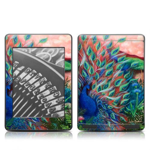 Coral Peacock Amazon Kindle Touch Skin