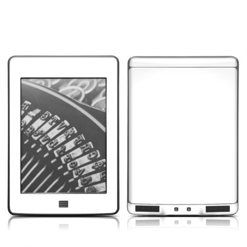 Solid State White Amazon Kindle Touch Skin
