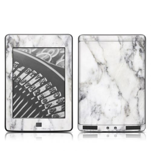 White Marble Amazon Kindle Touch Skin