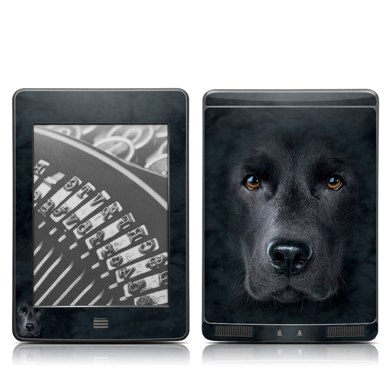 Amazon Kindle 4th Gen Touch Skin design of Vertebrate, Mammal, Dog, Canidae, Dog breed, Nose, Snout, Carnivore, Eye, Sporting Group with black, gray, orange colors