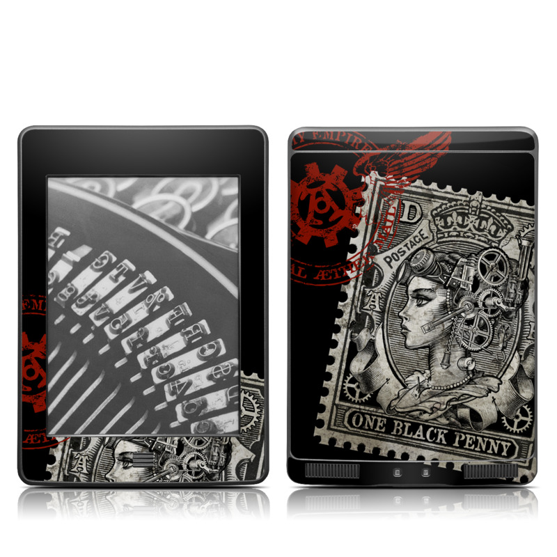 Black Penny Amazon Kindle Touch Skin