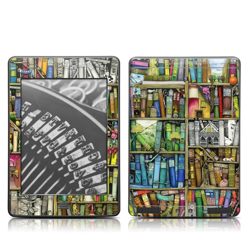 Bookshelf Amazon Kindle Touch Skin
