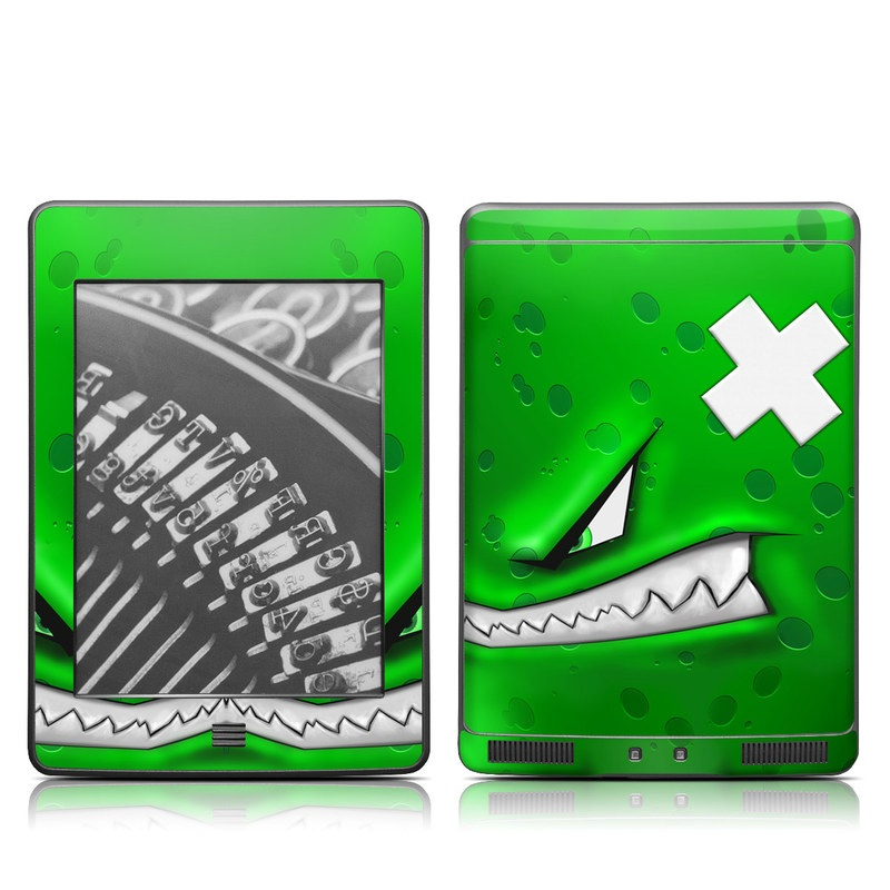 Amazon Kindle 4th Gen Touch Skin design of Green, Font, Animation, Logo, Graphics, Games with green, white colors