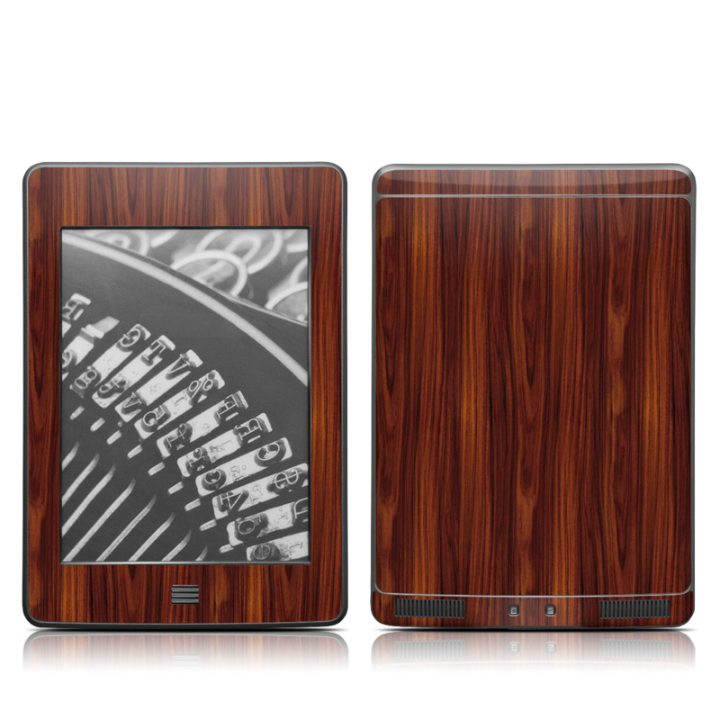 Dark Rosewood Amazon Kindle Touch Skin