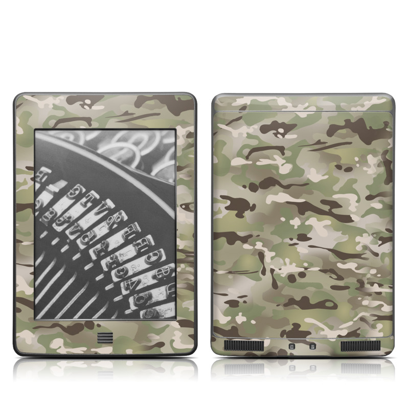Amazon Kindle 4th Gen Touch Skin design of Military camouflage, Camouflage, Pattern, Clothing, Uniform, Design, Military uniform, Bed sheet with gray, green, black, red colors