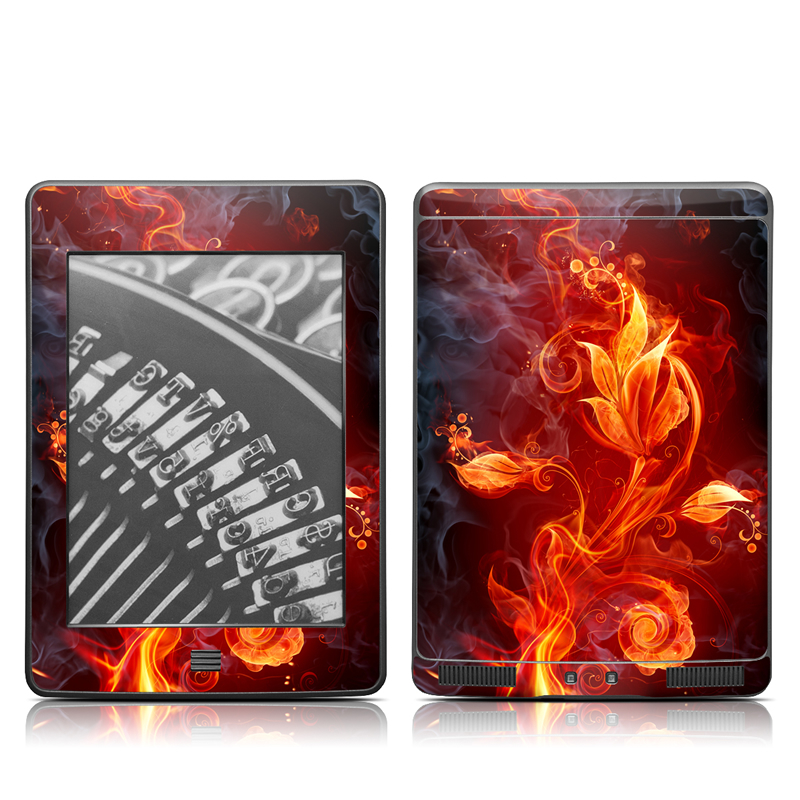 Flower Of Fire Amazon Kindle Touch Skin