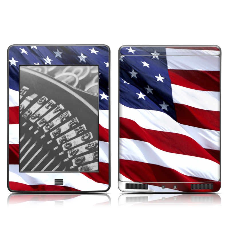 Patriotic Amazon Kindle Touch Skin