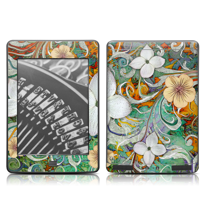 Sangria Flora Amazon Kindle Touch Skin