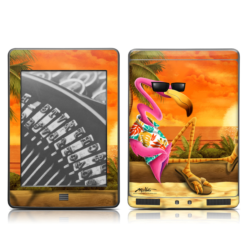 Amazon Kindle 4th Gen Touch Skin design of Cartoon, Art, Animation, Illustration, Plant, Cg artwork, Shoe, Fictional character with red, orange, green, black, pink colors
