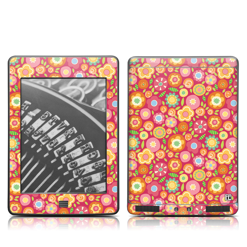 Flowers Squished Amazon Kindle Touch Skin