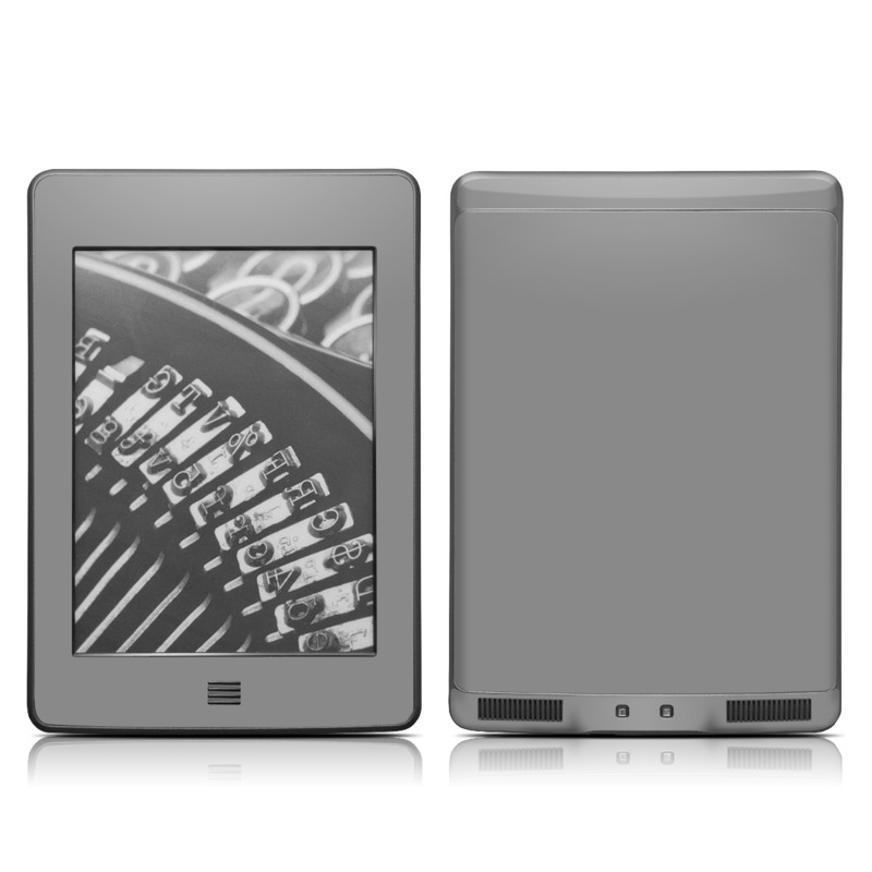 Solid State Grey Amazon Kindle Touch Skin