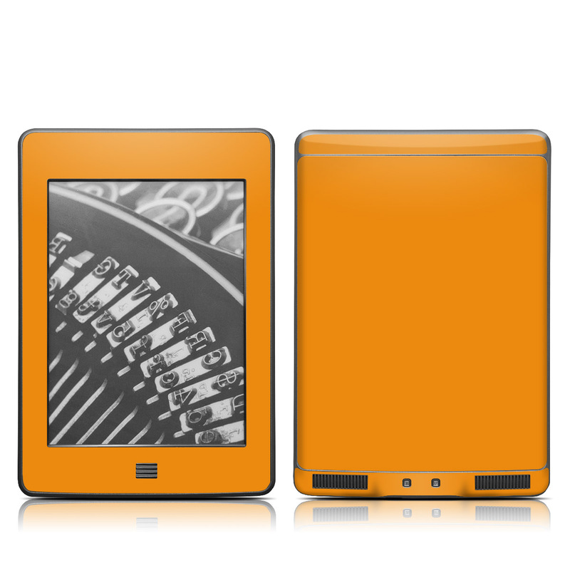 Amazon Kindle 4th Gen Touch Skin design of Orange, Yellow, Brown, Text, Amber, Font, Peach with orange colors