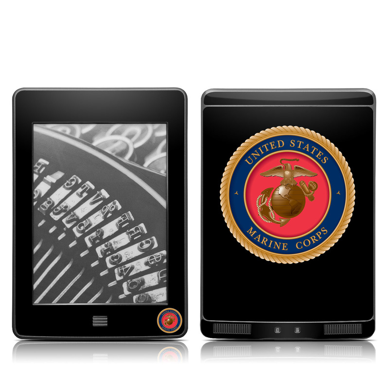 Amazon Kindle 4th Gen Touch Skin design of Emblem, Badge, Symbol, Logo, Crest, Label, Circle with black, red, green, gray colors
