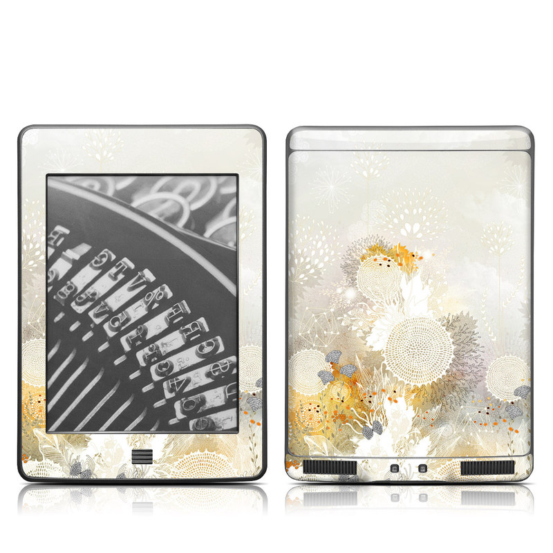 White Velvet Amazon Kindle Touch Skin