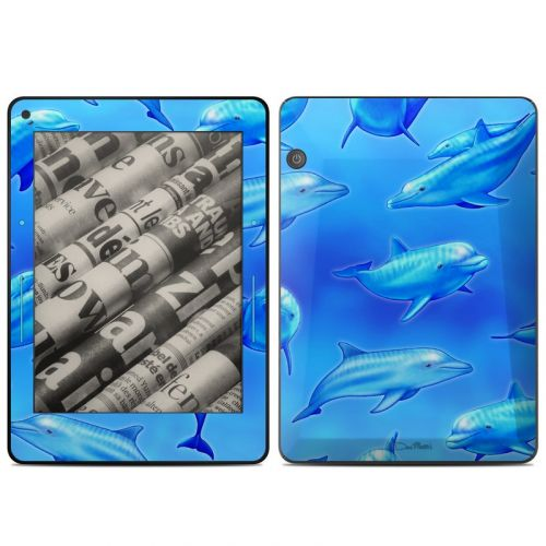 Swimming Dolphins Amazon Kindle Voyage Skin