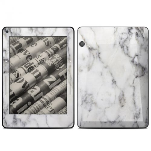 White Marble Amazon Kindle Voyage Skin