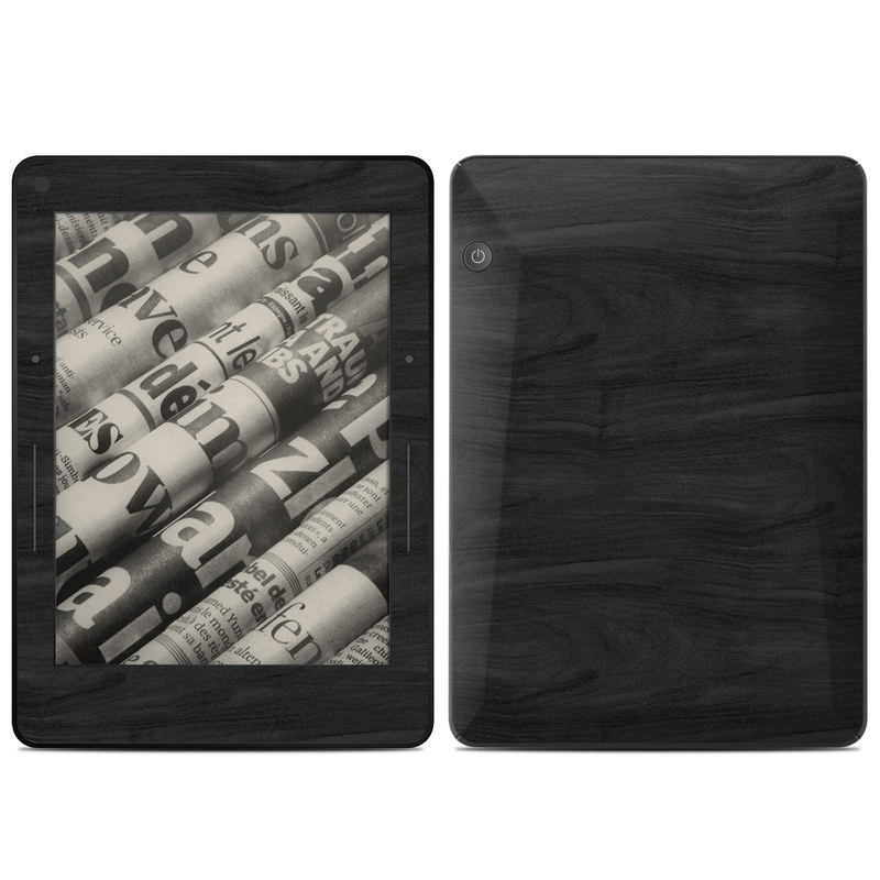 Black Woodgrain Amazon Kindle Voyage Skin