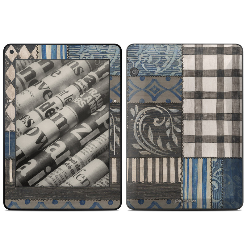 Country Chic Blue Amazon Kindle Voyage Skin
