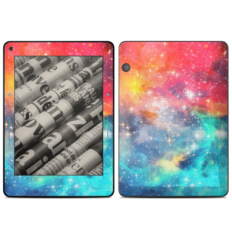 Amazon Kindle Voyage Skin design of Nebula, Sky, Astronomical object, Outer space, Atmosphere, Universe, Space, Galaxy, Celestial event, Star with white, black, red, orange, yellow, blue colors