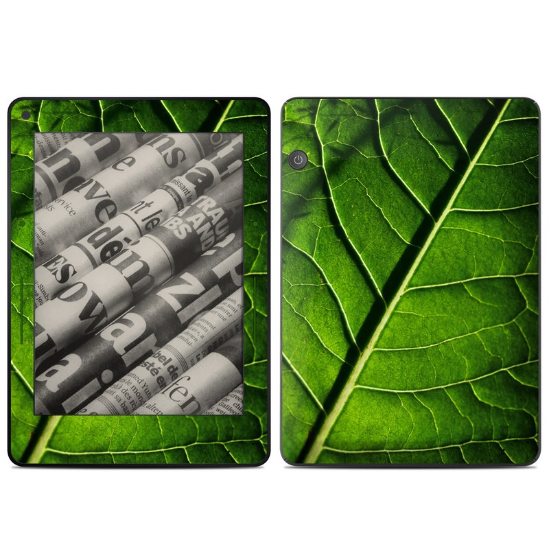 Green Leaf Amazon Kindle Voyage Skin