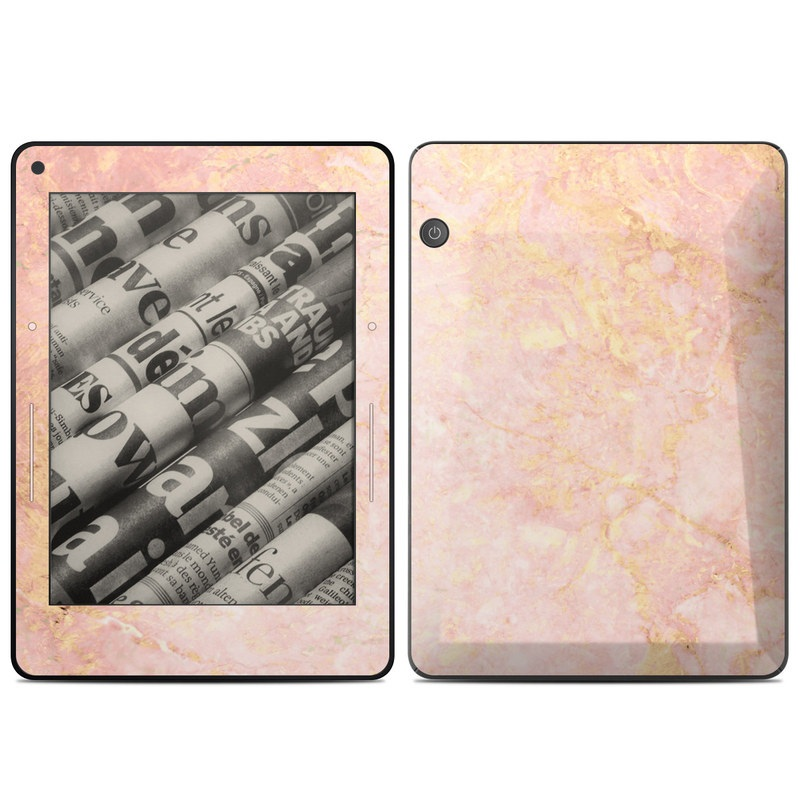 Amazon Kindle Voyage Skin design of Pink, Peach, Wallpaper, Pattern with pink, yellow, orange colors