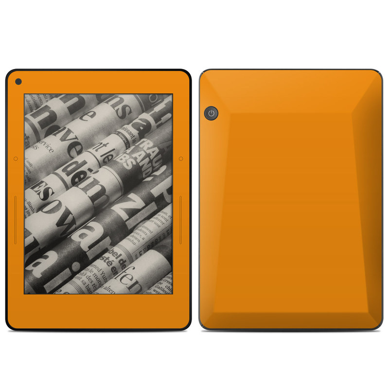 Amazon Kindle Voyage Skin design of Orange, Yellow, Brown, Text, Amber, Font, Peach with orange colors