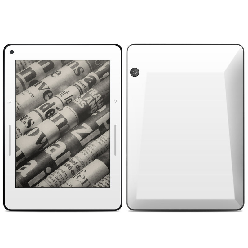 Solid State White Amazon Kindle Voyage Skin